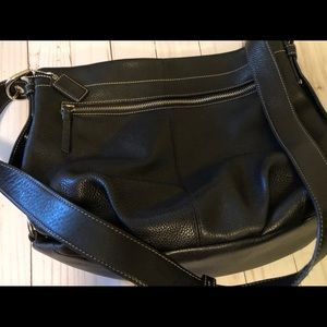 Coach Hobo Black Leather Silver Hardware